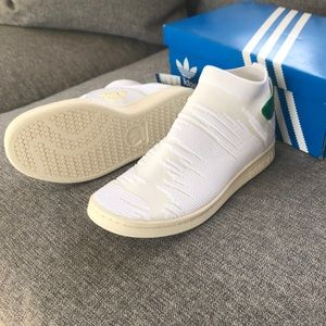 Rare White Adidas Originals Stan Smith Primeknit NWT